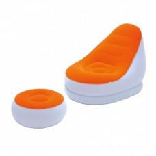 BESTWAY Inflate-A-Chair Orange and White Comfort Cruiser