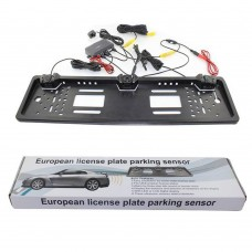 European License Plate Parking Sensor & Camera