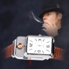 Rechargeable Watch With Lighter For Cigarette