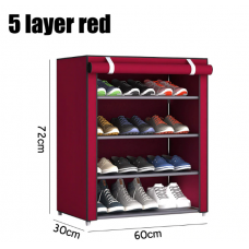 5 layer large size shoe shelf